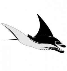 manta ray vector image vector image