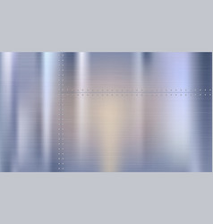 Metal background with texture and rivets polished vector