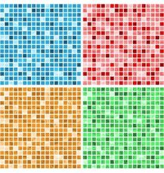 Mosaic textures vector image