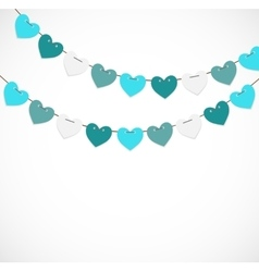 Party Background with Heart Shaped Flags vector image vector image