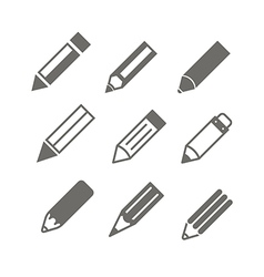 pen set vector image