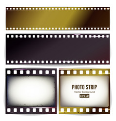 Photo strip realistic empty frame strip vector