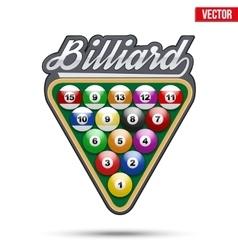 Premium symbol of Billiard Tag vector image vector image