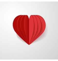 red 3d heart vector image vector image