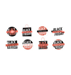 sale black friday logo discounts shopping vector image
