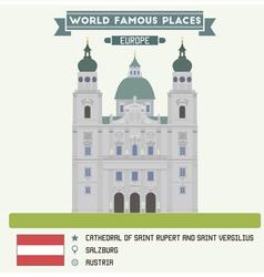 Salzburg cathedral vector