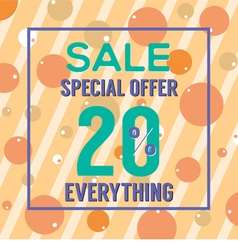 Special offer 20 percent vector