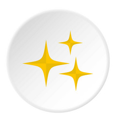 Stars icon circle vector