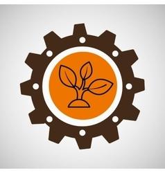Symbol environment gear plant vector