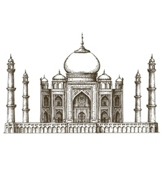 Taj Mahal logo design template India or vector image