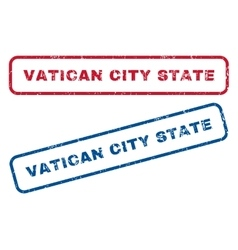 Vatican city state rubber stamps vector