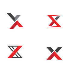 x letter logo template vector image