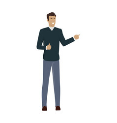 Young businessman character vector