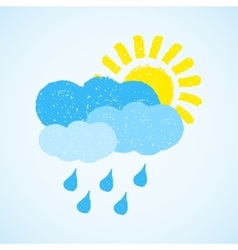 Weather - sun cloud and rain vector