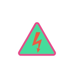 Electrocution icon vector