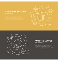 Autumn banner template vector