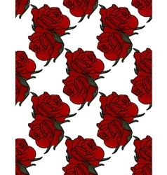 Floral Pattern Rose red background vector image