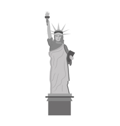 Liberty statue landmark icon vector