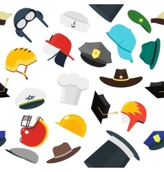 Hats Set Fashion Background Pattern vector image