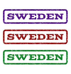 sweden watermark stamp vector image