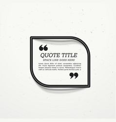 Black frame for quotation with shadow vector