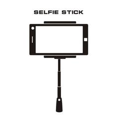 Selfie stick icon isolated badge vector