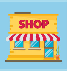 Flat shop building flat vector