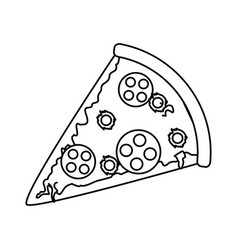 Pizza fast food icon image vector