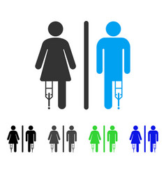 Patient wc persons flat icon vector