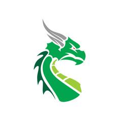 cartoon dragon face vector image