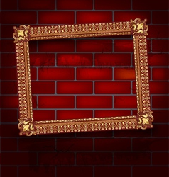 Frame on the brick wall vector