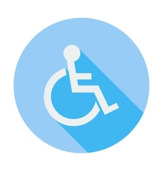 Disabled single icon vector
