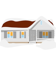 Snow house vector