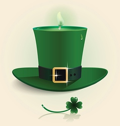 Modern design saint patricks day green candle vector