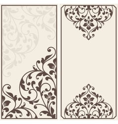 Two vintage greeting cards vector
