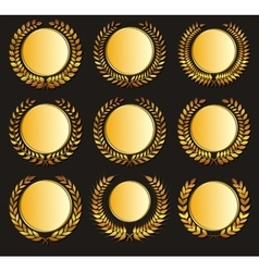 Gold medal and laurels vector