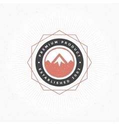 Mountain Hand Drawn Logo Template Design vector image