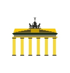 Brandenburg gate icon in flat style vector