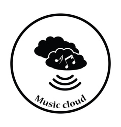 Music cloud icon vector