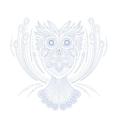 Owl Stylised Doodle Zen Coloring Book Page vector image