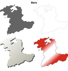 Bern blank detailed outline map set vector image