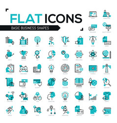 big bundle of modern icons in thin line style vector image vector image