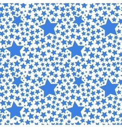 Blue stars on white seamless pattern vector image vector image
