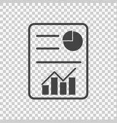 Business report flat vector