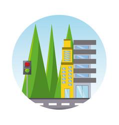 city elements design vector image