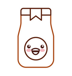 coffee toast bag kawaii character vector image