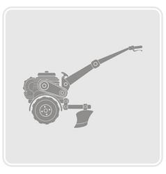 Color icon with farm tractor vector