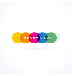 Creative colorful vibrant logo vector