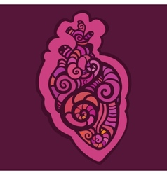 Decorative heart Ethnic pattern vector image vector image