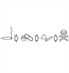 Drug use evolution vector